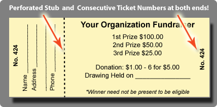 microsoft office raffle ticket templates